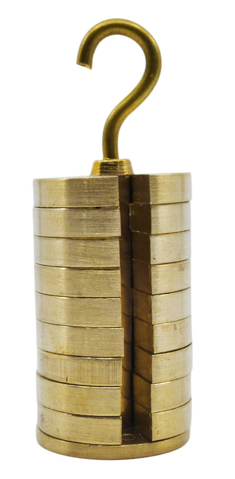 Slotted Weight Set, 100g - Brass - With Hook
