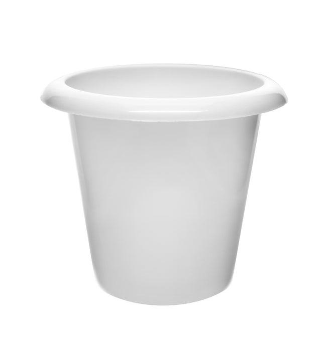 "Plantation Pot, 4.5"" Tall - Polypropylene - Downward Extended Rim - Drillable Drain Holes - Eisco Labs"