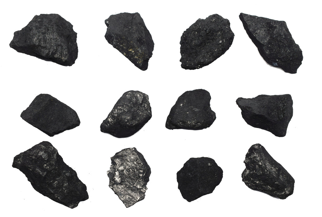 "12PK Raw Graphite, Pure Carbon Specimens - Approx. 1"" - Geologist Selected & Hand Processed - Great for Science Classrooms - Class Pack - Eisco Labs"