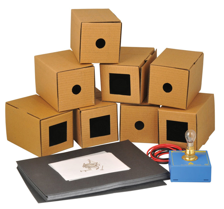 Pinhole Camera Demonstration Kit, 8 Boxes - Show the Principles of a Pinhole Camera - Eisco Labs
