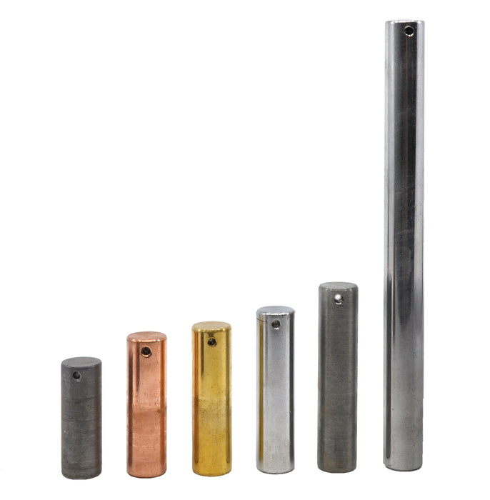 6 Piece Equal Mass Metal Cylinder Set - Includes Copper, Lead, Brass, Zinc, Iron & Aluminum