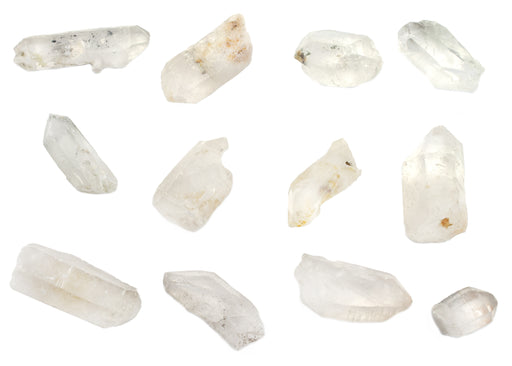"12PK Raw Quartz, Mineral Specimen - Approx. 1""- Geologist Selected & Hand Processed - Great for Science Classrooms - Eisco Labs"