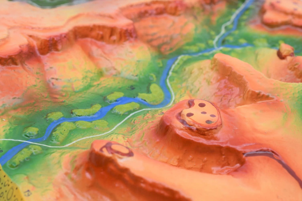 8 Piece Landform Model Set, 37 Inch - Investigate Geographical and Geological Features