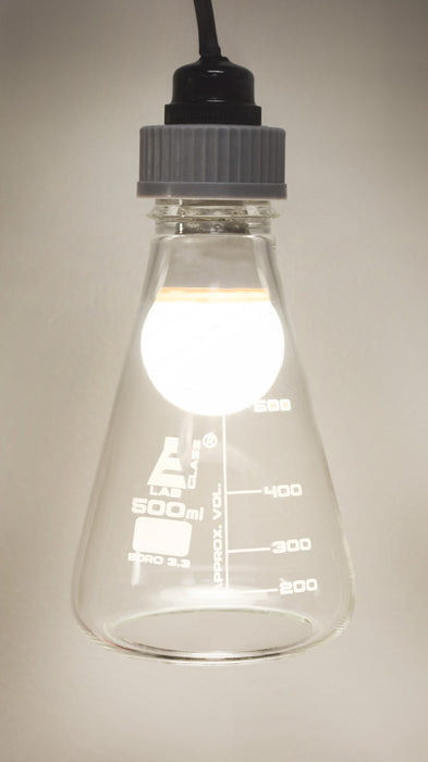 DIY Erlenmeyer Pendant Light Kit - Circuit Building Activity