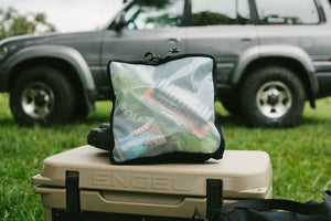 "Clear Packing Cube 12 x 12 x 2.5""  - Blue Ridge Overland Gear"