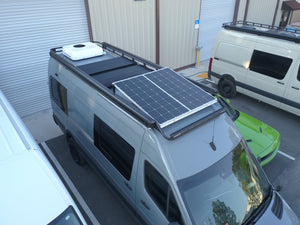 Mercedes Sprinter Adjustable Roof Rack by FreedomVanGo