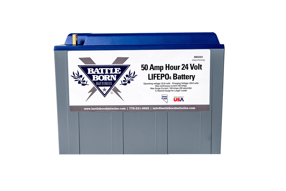 Battle Born 50 Ah 24 V LiFePO4 Deep Cycle Battery