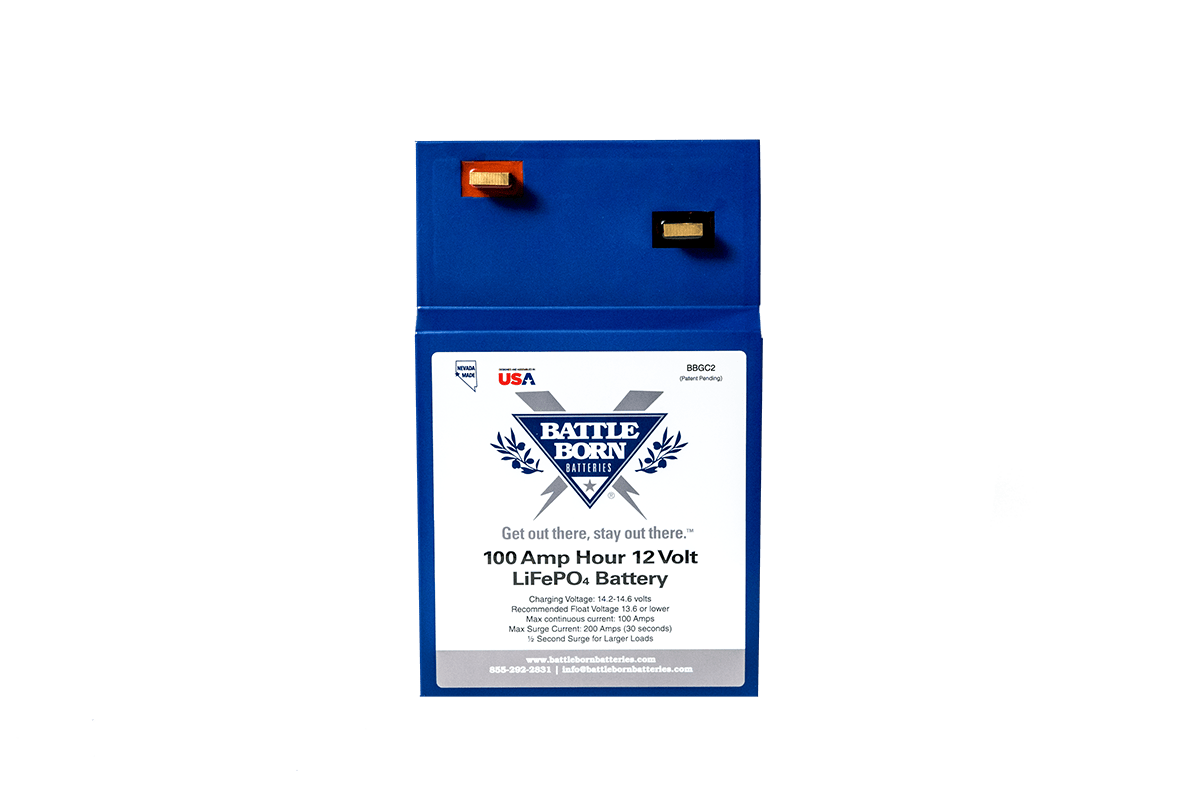 Battle Born 100 Ah 12 V GC2 LiFePO4 Deep Cycle Battery