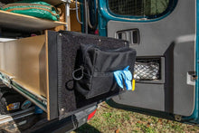 Load image into Gallery viewer, Glove Dispenser Pouch lifestyle velcro panel drawer mounted - Blue Ridge Overland Gear