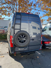 Load image into Gallery viewer, Owl Vans Ladder + Tire Carrier - Aluminum New Sprinter VS30 (2019+)