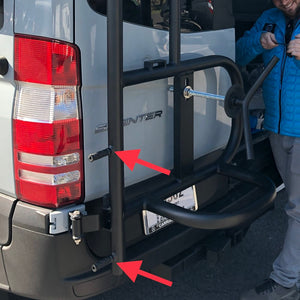 Owl Vans Mercedes Sprinter Ladder + Tire Carrier (07-18)