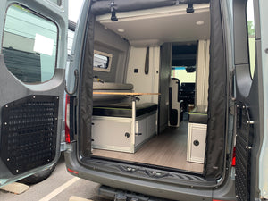 Canyon Adventure Vans The GLSS™ GARAGE LOUNGE STORAGE SYSTEM & DAY BED (made for the REVEL) Patent Pending