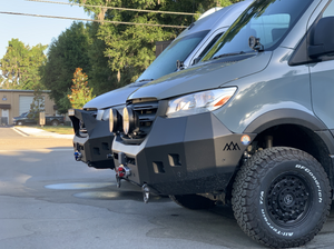 Mercedes Sprinter (2019+) Backwoods Adventure Mods Front Bumper W/ Bullbar
