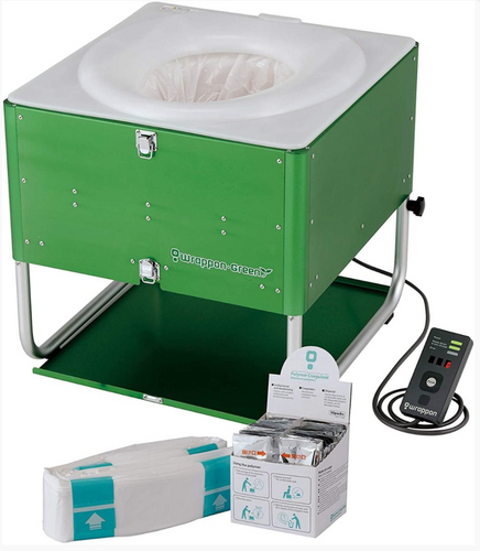 Wrappon Green Portable Toilet Complete Kit
