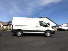Load image into Gallery viewer, VAN COMPASS™ FORD TRANSIT TOPO 2.0 FRONT AND REAR LIFT KIT (2013-PRESENT, SINGLE OR DUAL REAR WHEEL)