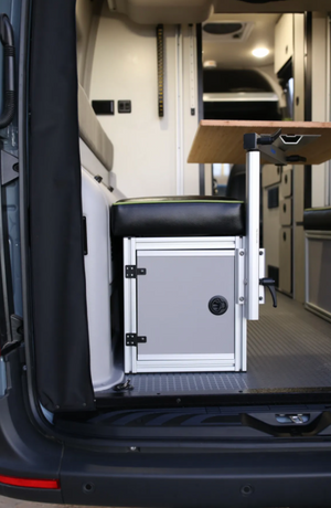 Canyon Adventure Vans  The 2021 GLSS™ GARAGE LOUNGE STORAGE SYSTEM / DRIVER SIDE ONLY (made for the 2021 REVEL) Patent Pending
