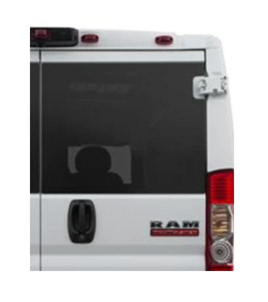 AMAuto PASSENGER REAR CARGO DOOR GLASS WINDOW RAM PROMASTER VAN 14-20