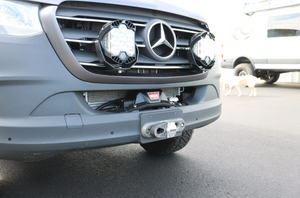 VAN COMPASS™ MERCEDES SPRINTER 2019+ WINCH MOUNT WITH OPTIONAL TOW HOOKS