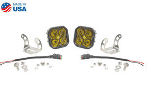 "Diode Dynamics Stage Series 3"" SAE/DOT Yellow Pro Standard LED Pod (pair)"