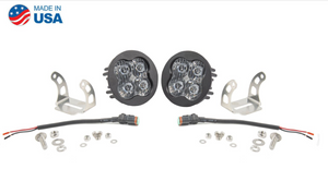 "Diode Dynamics Stage Series 3"" SAE/DOT White Pro Round LED Pod (pair)"