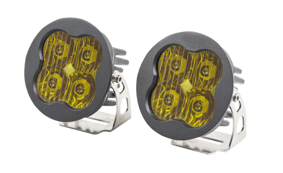 "Diode Dynamics Stage Series 3"" SAE/DOT Yellow Pro Round LED Pod (pair)"