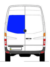 Load image into Gallery viewer, AM Auto Driver Rear Cargo Door Solid Glass Window Sprinter Van 07-18