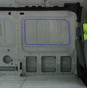 AM Auto Passenger Side Sliding Door Half-Slider Window Ford Transit Van 15-20
