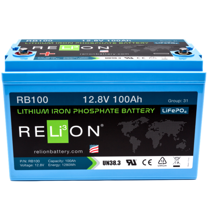Relion Batteries RB-100 12V 100Ah LiFePO4 Battery