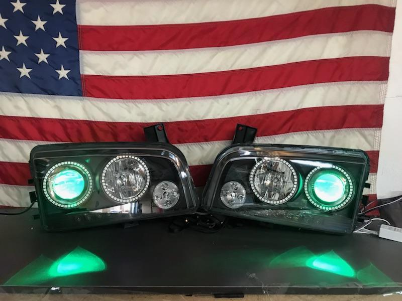 2006-2010 Dodge Charger Prebuilt LED Headlights - PRIMO DYNAMIC
