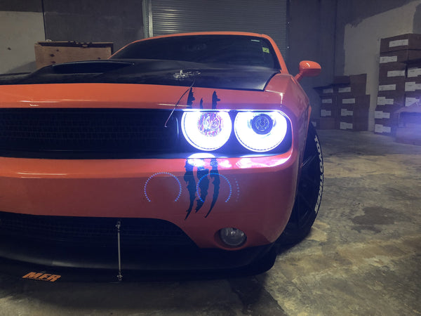 2009-2014 Dodge Challenger Prebuilt LED Headlights