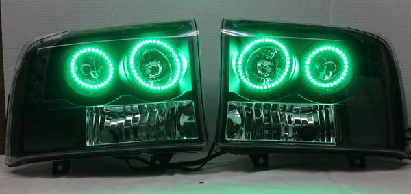 1994-2004 Ford F-250/F-350 Prebuilt LED Headlights With Projectors - PRIMO DYNAMIC