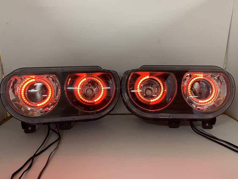 2009-2014 Dodge Challenger Prebuilt LED Headlights - PRIMO DYNAMIC