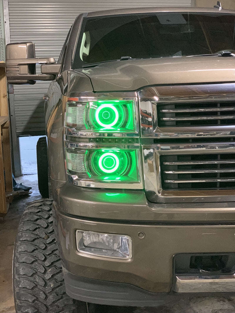 14-15 1500 Chevy Silverado Projector-Style Headlights - PRIMO DYNAMIC