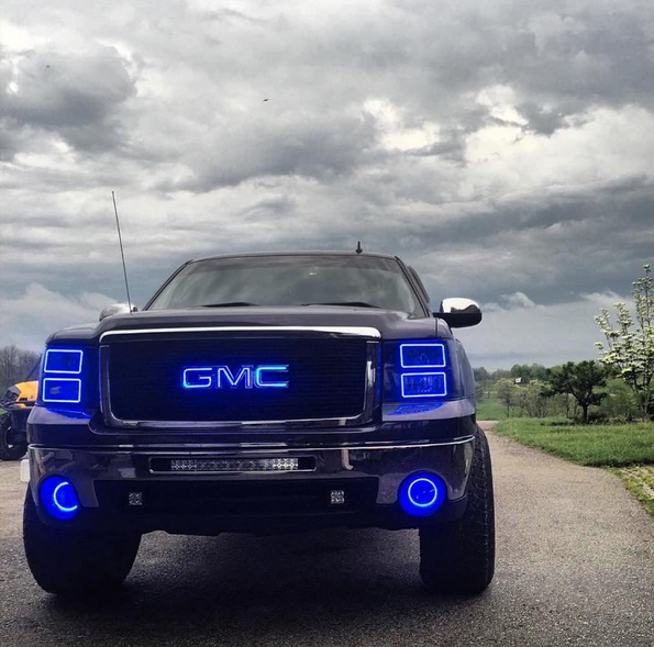 2007-2013 GMC Sierra Prebuilt HALO fog lights