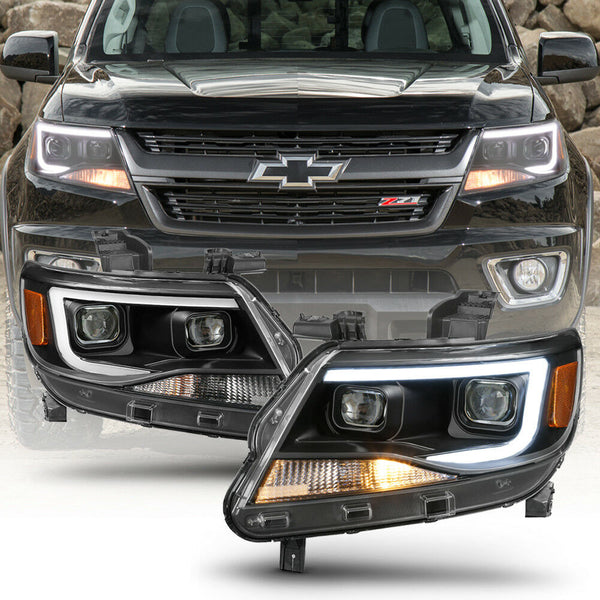 2015-2019 chevy colorado headlights prebuilt