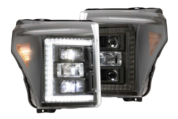 2011-2016 Ford F-250 Prebuilt LED Headlights by morimoto hybrid - PRIMO DYNAMIC