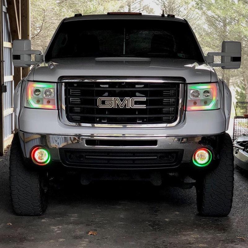 "2007-2013 GMC Sierra Prebuilt LED ""Cyclops Edition"" Headlights - PRIMO DYNAMIC"