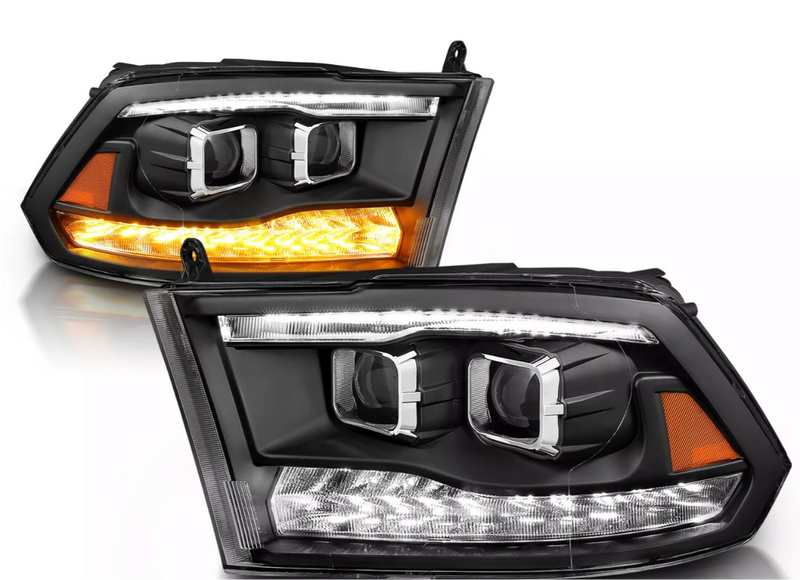 2009-2019 Dodge Ram Projector Prebuilt Headlights cyclops edition