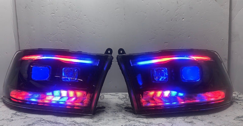 2009-2019 Dodge Ram Projector Prebuilt Headlights cyclops edition - PRIMO DYNAMIC