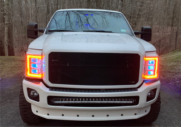 2011-2016 f-250 f-350 super duty Prebuilt LED Headlights by morimoto