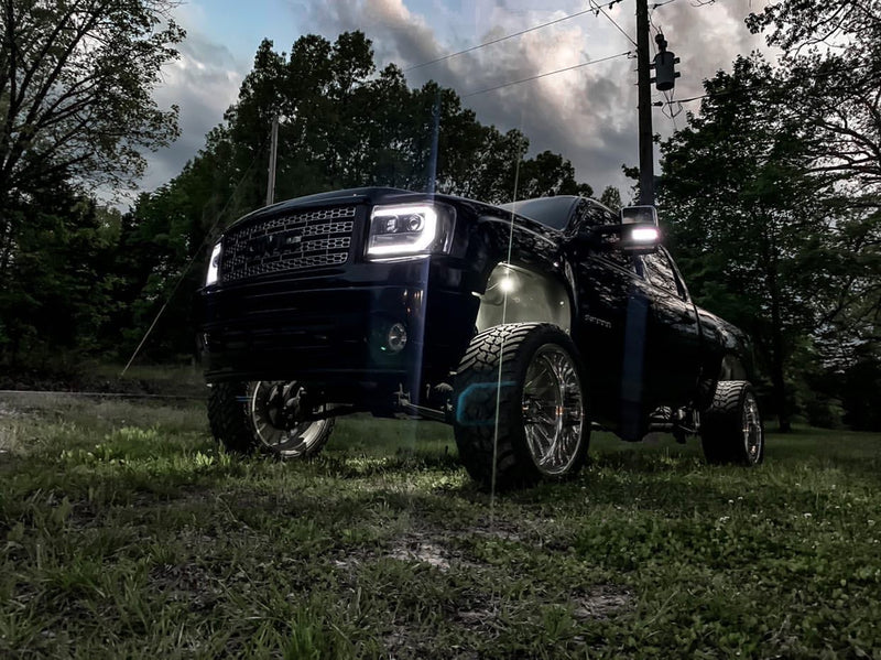 "2007-2013 GMC Sierra Prebuilt LED ""Cyclops Edition"" Headlights"