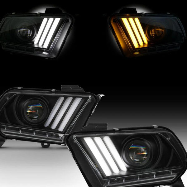 2010-2012 ford mustang headlights prebuilt  w/ Factory HID/Xenon Headlight Models Only