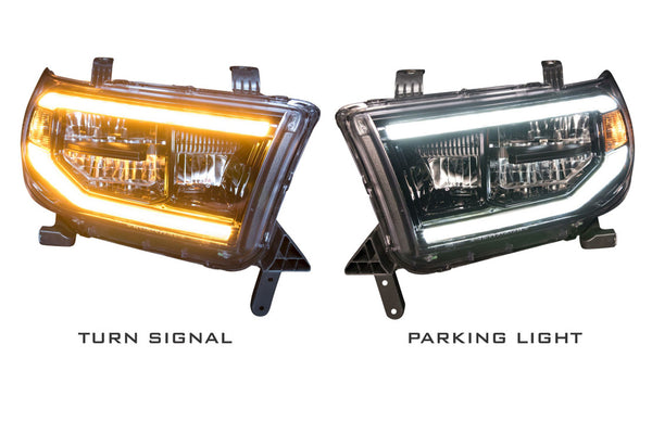 "2007-2014 Toyota Tundra Prebuilt Headlights ""LED XB HEADLIGHTS"""