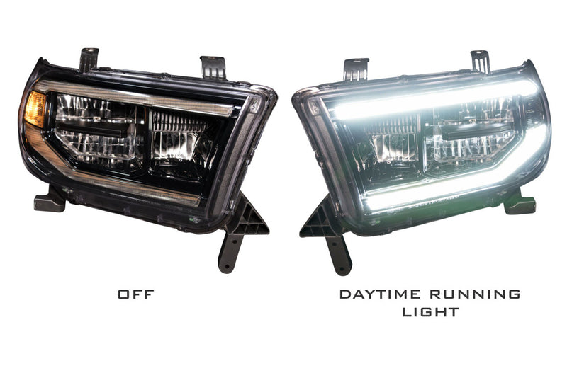 "2007-2014 Toyota Tundra Prebuilt Headlights ""LED XB HEADLIGHTS"" - PRIMO DYNAMIC"