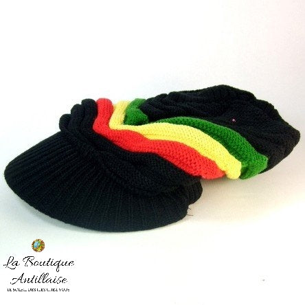 BONNET RASTA EN LAINE - La Boutique Antillaise