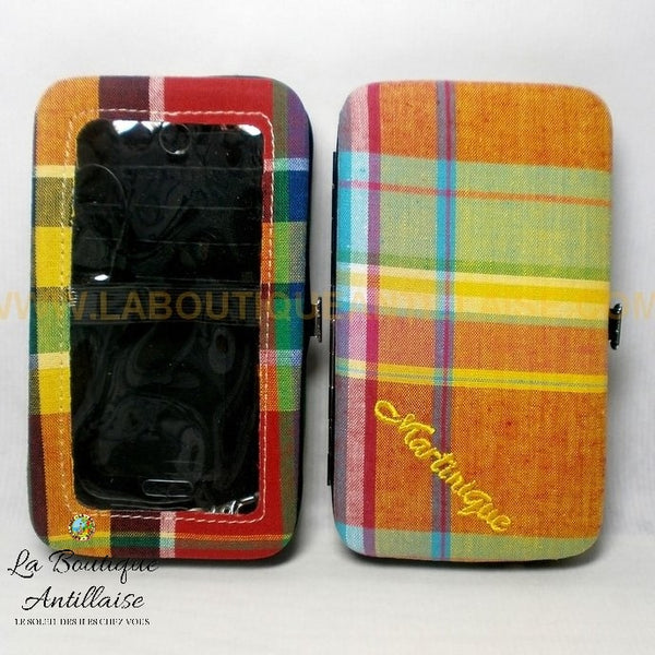 POCHETTE IPHONE MADRAS - La Boutique Antillaise