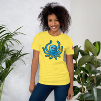 Single side--Octo Art Unisex T-Shirt (pastel colors and yellow) - SloppyOctopus.com
