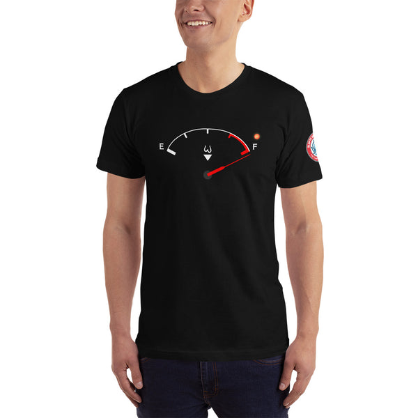 "SEE BOTH SIDES--Blue Balls Gauge, ""Spuel Gauge"", Men's T-Shirt - SloppyOctopus.com"