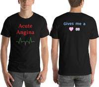 "SEE BOTH SIDES--Acute Angina, ""In-Your-Face"" (sounds good)  Version, Adult T-Shirt - SloppyOctopus.com"