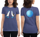 SEE BOTH SIDES--Boobies Up Front, Uranus In Back, Women's short sleeve t-shirt - SloppyOctopus.com